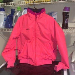 Vintage Columbia neon pink bugaboo jacket